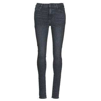textil Dam Skinny Jeans Levi's 720 HIGH RISE SUPER SKINNY Rökfärgad / Out