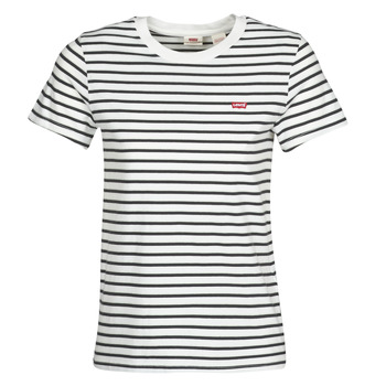 textil Dam T-shirts Levi's PERFECT TEE Benitoite / Cloud