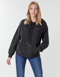 textil Dam Sweatshirts Levi's STANDARD HOODIE Svart