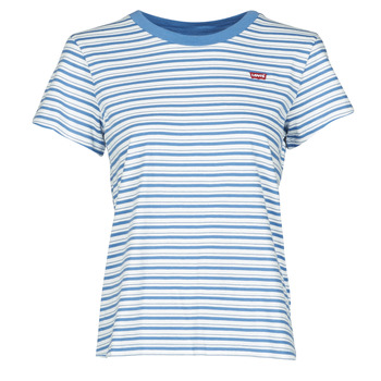 textil Dam T-shirts Levi's PERFECT TEE Blå