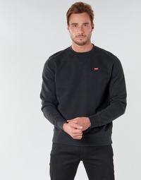 textil Herr Sweatshirts Levi's NEW ORIGINAL CREW Svart