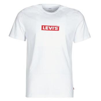 textil Herr T-shirts Levi's BOXTAB GRAPHIC TEE Vit