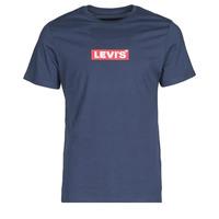 textil Herr T-shirts Levi's BOXTAB GRAPHIC TEE Blå