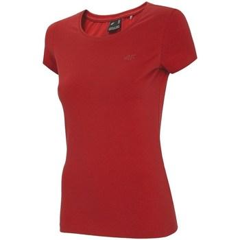textil Dam T-shirts 4F NOSH4 TSD001 Röda