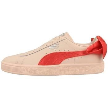 Skor Barn Sneakers Puma Basket Bow JR Orange