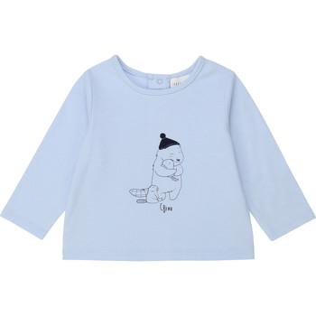 textil Pojkar Långärmade T-shirts Carrément Beau Y95249 Blå