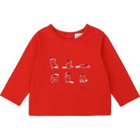 textil Flickor Långärmade T-shirts Carrément Beau Y95252 Röd
