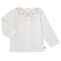 textil Flickor Långärmade T-shirts Carrément Beau Y95244 Vit