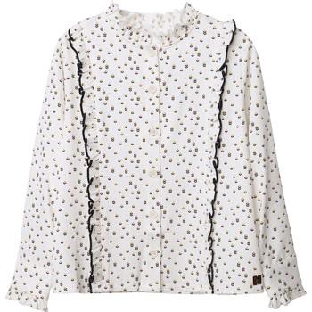 textil Flickor Blusar Carrément Beau Y15356 Vit