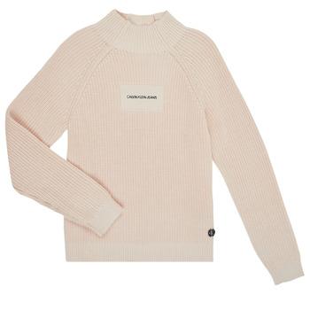 textil Flickor Tröjor Calvin Klein Jeans IG0IG00680-PGB Grå