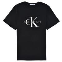 textil Barn T-shirts Calvin Klein Jeans MONOGRAM Svart