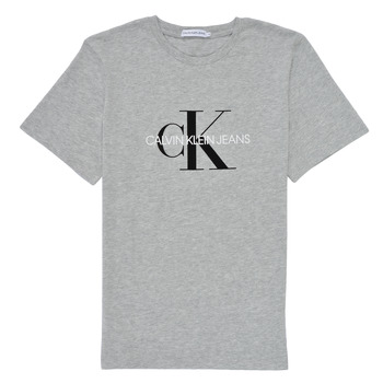 textil Barn T-shirts Calvin Klein Jeans MONOGRAM Grå