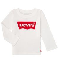 textil Flickor Långärmade T-shirts Levi's BATWING TEE LS Vit