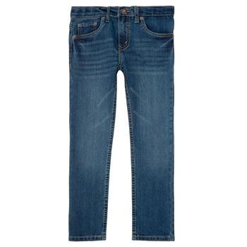 textil Pojkar Stuprörsjeans Levi's 511 SLIM FIT JEAN Blå
