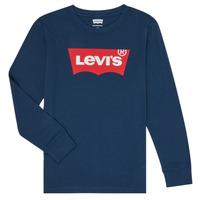 textil Pojkar Långärmade T-shirts Levi's BATWING TEE LS Blå