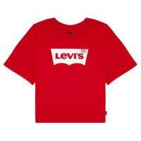 textil Flickor T-shirts Levi's LIGHT BRIGHT CROPPED TEE Röd