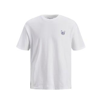 textil Pojkar T-shirts Jack & Jones JJAARHUS TEE Vit