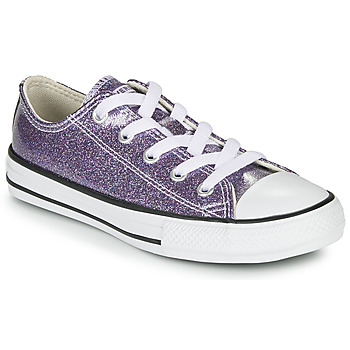 Skor Flickor Sneakers Converse Chuck Taylor All Star - Coated Glitter Violett