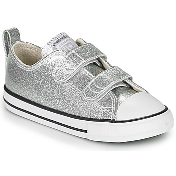 Skor Flickor Sneakers Converse Chuck Taylor All Star 2V - Coated Glitter Silver