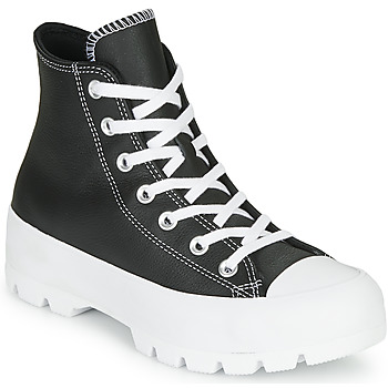 Skor Dam Höga sneakers Converse Chuck Taylor All Star Lugged - Foundational Leather Svart