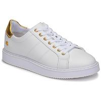 Skor Dam Sneakers Lauren Ralph Lauren ANGELINE II Vit / Guldfärgad