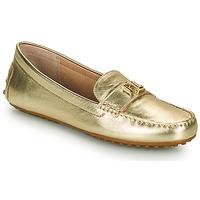 Skor Dam Loafers Lauren Ralph Lauren BARNSBURY FLATS CASUAL Guldfärgad