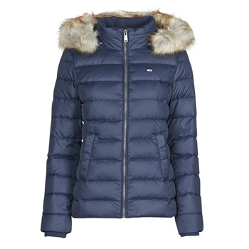 textil Dam Täckjackor Tommy Jeans TJW BASIC HOODED DOWN JACKET Marin