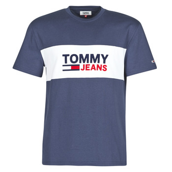 textil Herr T-shirts Tommy Jeans TJM PIECED BAND LOGO TEE Marin