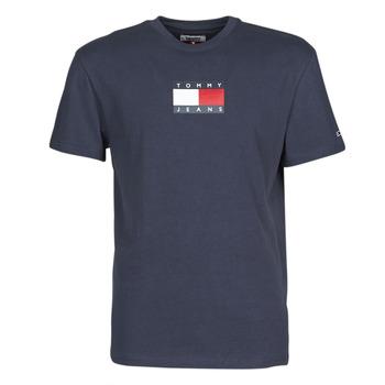 textil Herr T-shirts Tommy Jeans TJM SMALL FLAG TEE Marin