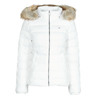 textil Dam Täckjackor Tommy Jeans TJW BASIC HOODED DOWN JACKET Vit