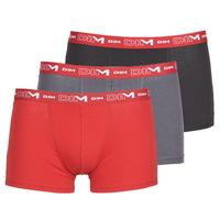 Underkläder  Herr Boxershorts DIM COTON STRETCH Grå / Röd / Svart