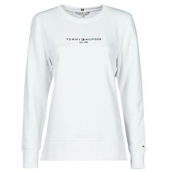 textil Dam Sweatshirts Tommy Hilfiger TH ESS HILFIGER C-NK SWEATSHIRT Vit