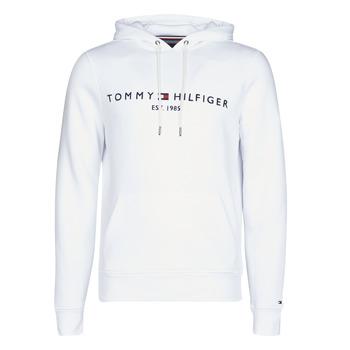 textil Herr Sweatshirts Tommy Hilfiger TOMMY LOGO HOODY Vit