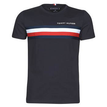 textil Herr T-shirts Tommy Hilfiger GLOBAL STRIPE TEE Marin