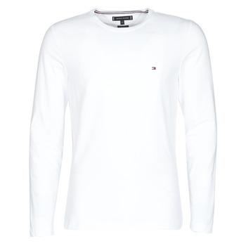 textil Herr Långärmade T-shirts Tommy Hilfiger STRETCH SLIM FIT LONG SLEEVE TEE Vit
