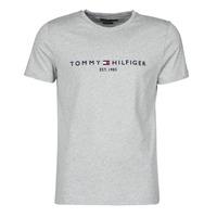 textil Herr T-shirts Tommy Hilfiger TOMMY LOGO TEE Grå
