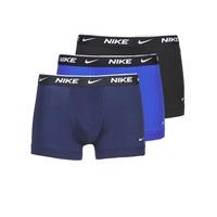 Underkläder  Herr Boxershorts Nike EVERYDAY COTTON STRETCH Svart / Marin / Blå