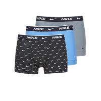 Underkläder  Herr Boxershorts Nike EVERYDAY COTTON STRETCH Svart / Grå / Blå
