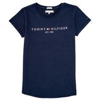 textil Flickor T-shirts Tommy Hilfiger KG0KG05242-C87 Marin