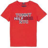 textil Pojkar T-shirts Tommy Hilfiger KB0KB05848-XNL Röd