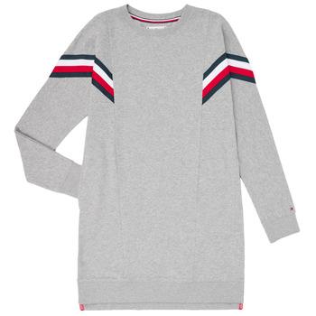 textil Flickor Korta klänningar Tommy Hilfiger KG0KG05283-P6U Grå