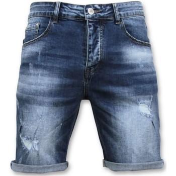 textil Herr Shorts / Bermudas Enos Short Pants Ripped Short Blå