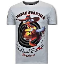 textil Herr T-shirts Local Fanatic Lyx Crime Empire W Vit