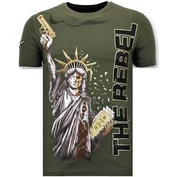 textil Herr T-shirts Local Fanatic Rhinestone The Rebel G Grön