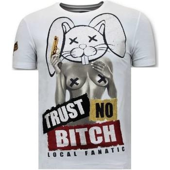 textil Herr T-shirts Local Fanatic Tryck Lita No Bitch W Vit