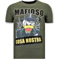 textil Herr T-shirts Local Fanatic Lyx Cosa Nostra Mafioso G Grön