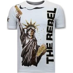 textil Herr T-shirts Local Fanatic The Rebel W Vit