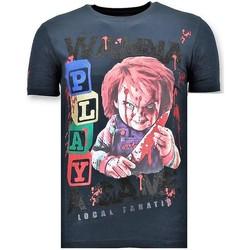 textil Herr T-shirts Local Fanatic Lyx Chucky Childs Play N Blå