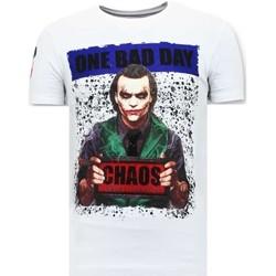 textil Herr T-shirts Local Fanatic Tuff The Joker W Vit