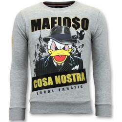 textil Herr Sweatshirts Local Fanatic Cosa Nostra Mafioso G Grå